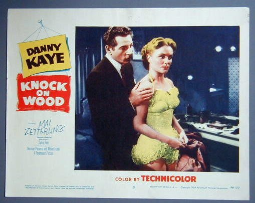 KNOCK ON WOOD Danny Kaye original '54 lobby card