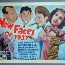 NEW FACES OF 1937 Joe Penner original '36 lobby card