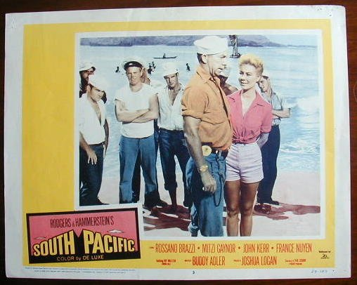 AB45 SOUTH PACIFIC Ray Walston orig '59 lobby card