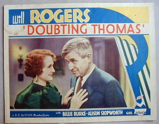 AC16 DOUBTING THOMAS Will Rogers/Billie Burke '35 LC