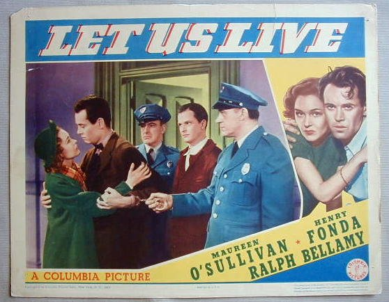 AC27 LET US LIVE Henry Fonda orig 1939 lobby card