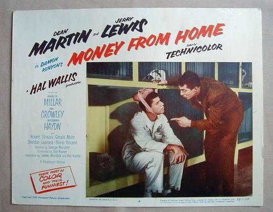 AC33 MONEY FROM HOME Martin & Lewis orig '54 lobby card