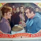 AD09 CONQUEST Garbo/Boyer  orig FABULOUS '37 lobby card