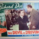 AD11 DEVIL IS DRIVING Richard Dix orig 1937 lobby card