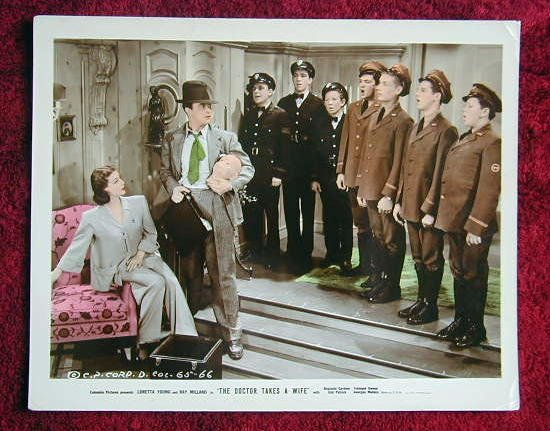 AE10 DOCTOR TAKES A WIFE Loretta Young color 8x10 still