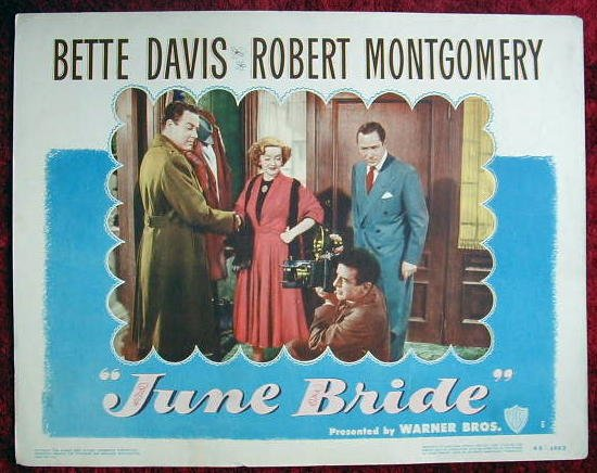 AE20 JUNE BRIDE Bette Davis/Robert Montgomery '49 LC