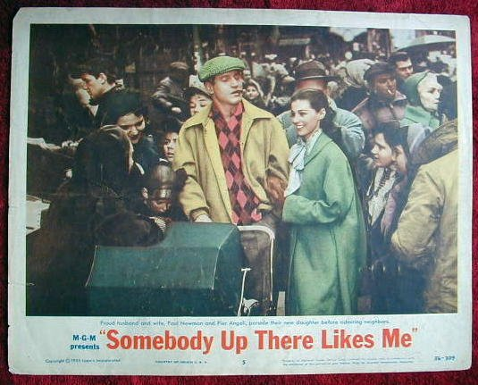 AE44 SOMEBODY UP THERE LIKES ME Paul Newman orig '56 LC