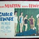 AF37 SAILOR BEWARE Jerry Lewis orig '52 lobby card