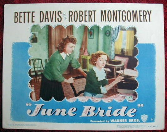 AG21 JUNE BRIDE Bette Davis original '48 lobby card