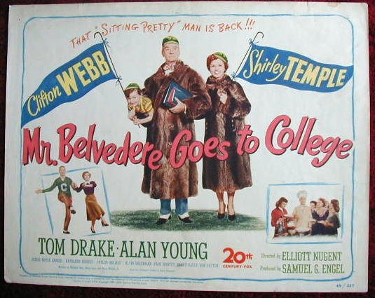 AG35 MR BELVEDERE GOES TO COLLEGE Shirley Temple '49 TC