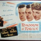 AG49 TOMORROW IS FOREVER Orson Welles/Colbert '45 TC