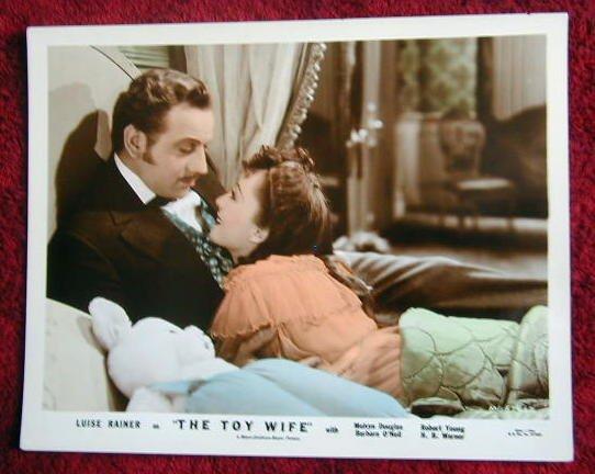 AH48 TOY WIFE Luise Rainer/Douglas '38 orig color still