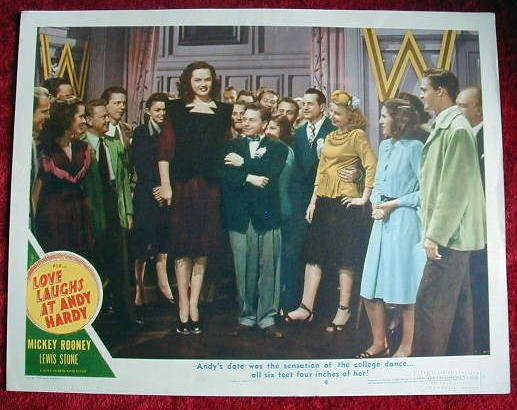 AI25 LOVE LAUGHS AT ANDY HARDY Mickey Rooney '47 LC