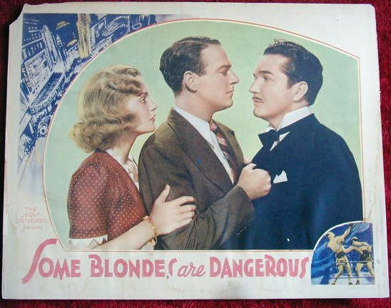 AL34 SOME BLONDES ARE DANGEROUS orig '37 lobby card