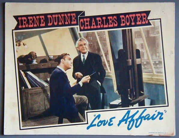 AM24 LOVE AFFAIR Charles Boyer original 1939 lobby card