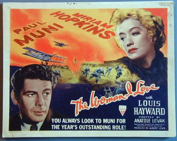 AO46 WOMAN I LOVE Miriam Hopkins/Paul Muni '37 orig TC