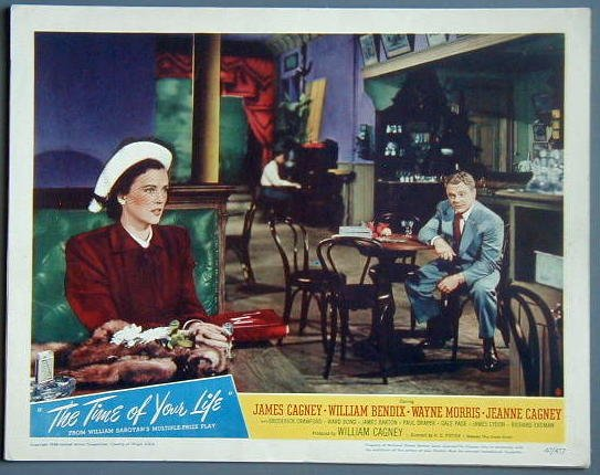 AU44 TIME OF YOUR LIFE James Cagney orig '47 lobby card