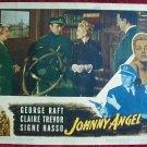 AK18 JOHNNY ANGEL George Raft/Claire Trevor original  '45 lobby card
