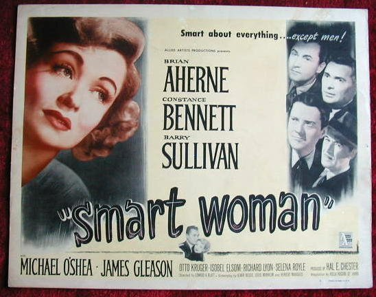 AL33 SMART WOMAN Constance Bennett orig '48 title card