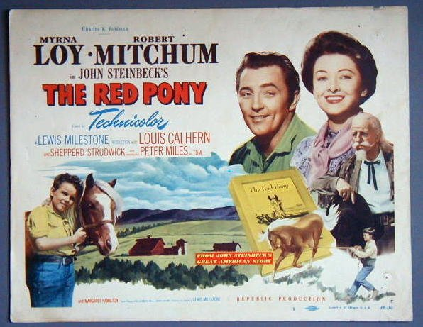 AM32 RED PONY Myrna Loy/Robert Mitchum TERRIFIC '49 TC