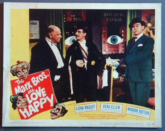 AO24 LOVE HAPPY Groucho Marx TERRIFIC orig 1949 LC