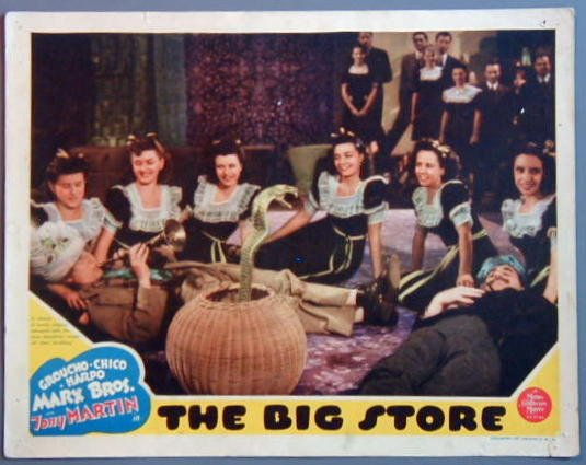 AP04 BIG STORE Groucho/Harpo MARX BROTHERS orig '41 LC