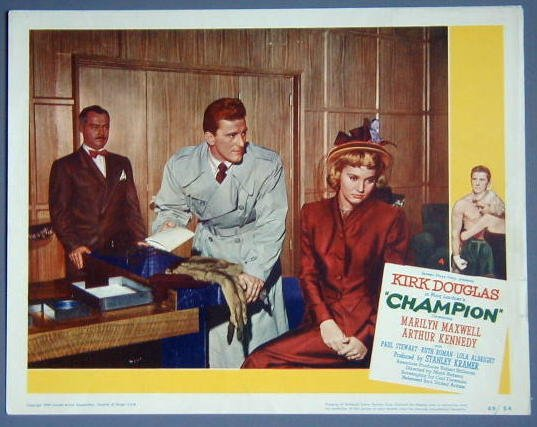 AS04 CHAMPION Kirk Douglas/Marilyn Maxwell orig '49 LC