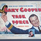 AW47 TASK FORCE Gary Cooper Orig '49 Title Lobby Card