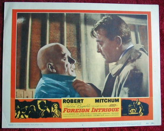AL14 FOREIGN INTRIGUE Robert Mitchum orig 1956 LC