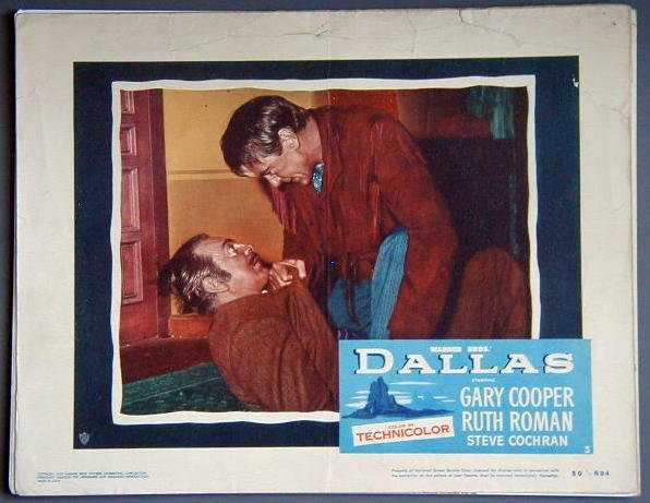 AM08 DALLAS  Gary Cooper  orig 1950 lobby card