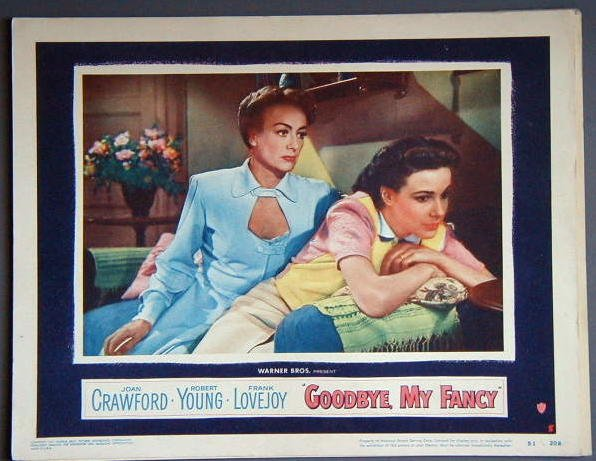 AM14 GOODBYE MY FANCY Joan Crawford orig '51 lobby card