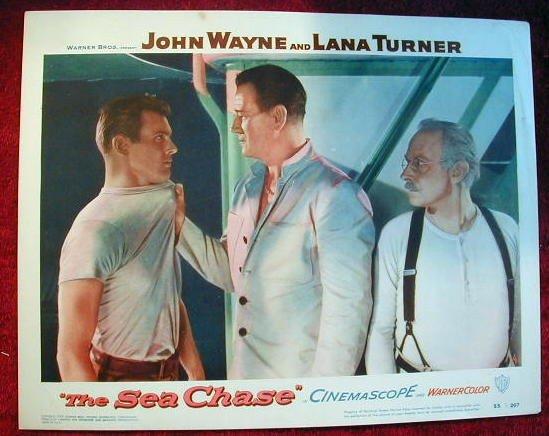 AP39 SEA CHASE John Wayne original 1955 lobby card