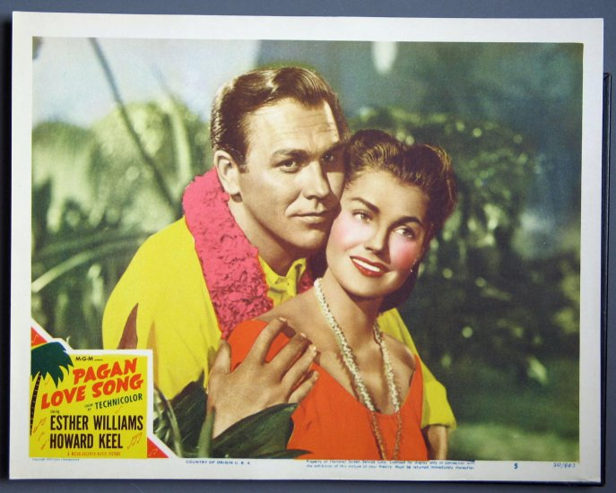 AY40 Pagan Love Song ESTHER WILLIAMS '50 Portrait LC