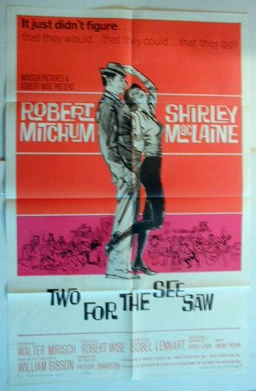 AJ46 TWO FOR THE SEESAW Shirley MacLaine original  '62 1SH