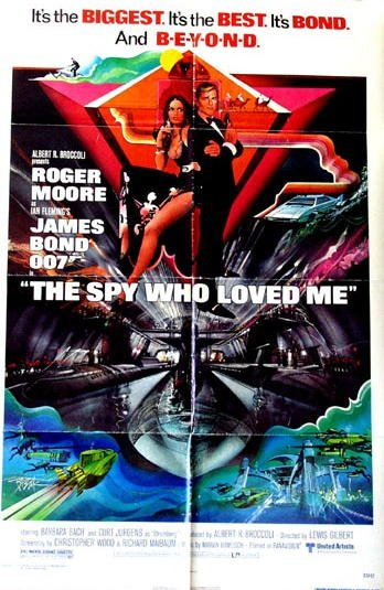 AO47 SPY WHO LOVED ME Roger Moore  BOND '77 1SH poster