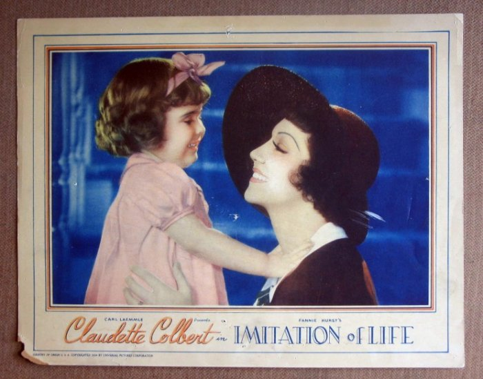 DL18 Imitation Of Life CLAUDETTE COLBERT '34 RARE LC