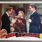 DL27 LOVE IS A HEADACHE Gladys George GREAT orig '38 LC