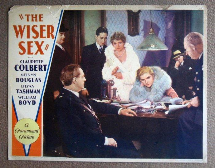 DL49 WISER SEX rare Claudette Colbert original '32 LC