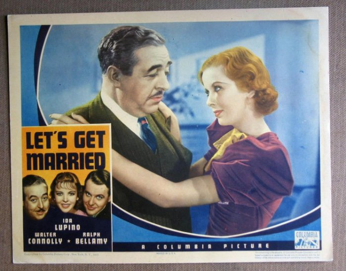DM28 Let's Get Married IDA LUPINO Portrait RARE '37 LC