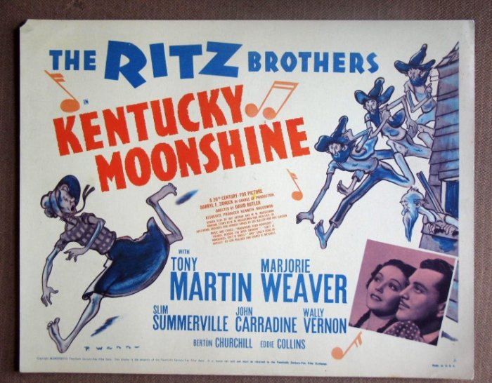 DN27 Kentucky Moonshine RITZ BROTHERS Title Lobby Card
