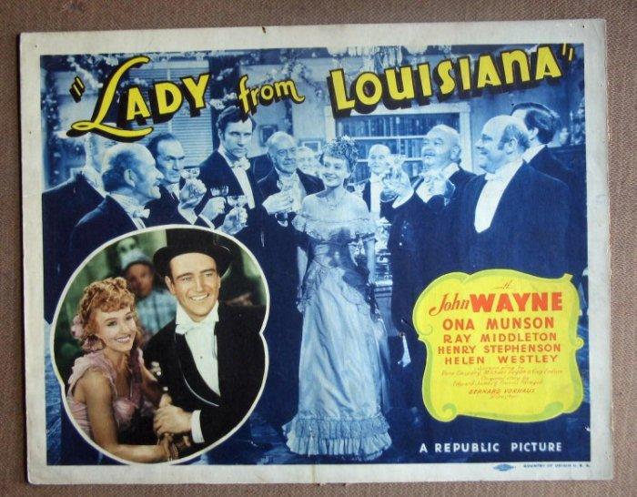 DN28 Lady From Louisiana JOHN WAYNE Title Lobby Card