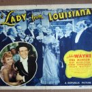 DN28 Lady From Louisiana JOHN WAYNE Title Lobby Card