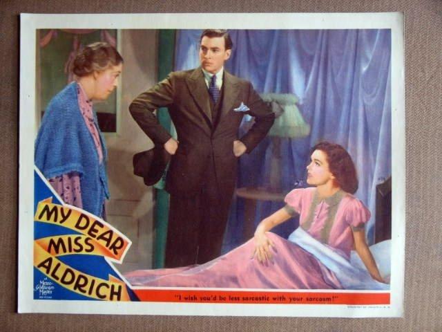 DZ28 My Dear Miss Aldrich MAUREEN O'SULLIVAN Lobby Card
