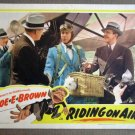 EA37 Riding On Air JOE E. BROWN Orig 1937 Lobby Card