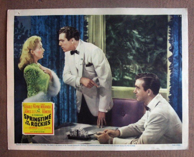 DJ37 Springtime In The Rockies BETTY GRABLE orig '42 LC