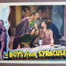 DK09 BOYS FROM SYRACUSE Allan Jones MINT orig '40 LC