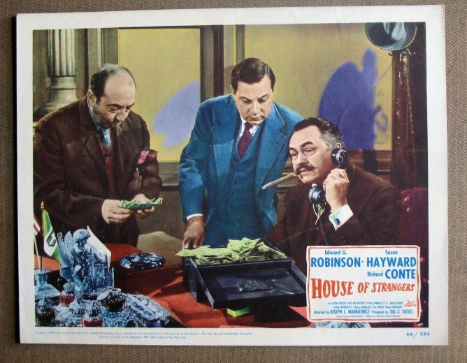 DK23 HOUSE OF STRANGERS Edward G Robinson MINT '49 LC