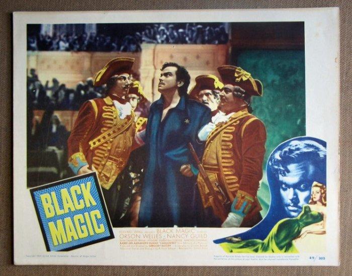 DL08 Black Magic ORSON WELLS Original 1949 Lobby Card
