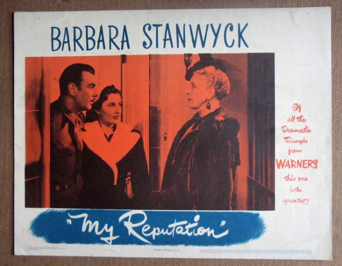 DO37 My Reputation BARBARA STANWYCK/G BRENT Lobby Card
