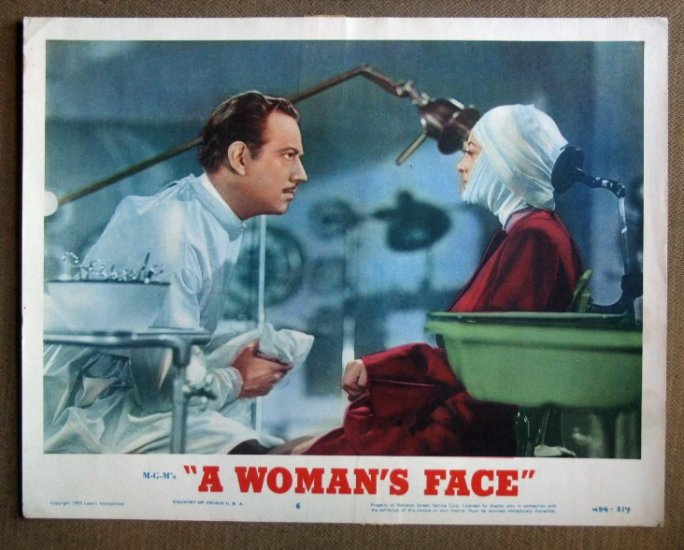 DP49 Woman's Face JOAN CRAWFORD/MEL DOUGLAS Lobby Card